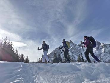 Snowshoeing in the Bavarian Alps