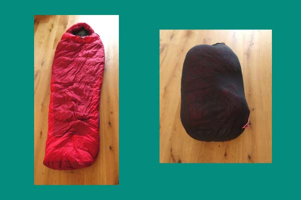 Always store your sleeping bag loose in a large cotton bag